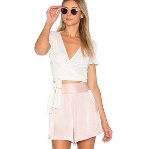 1. STATE On Point Rosy Flush High Waisted Shorts
